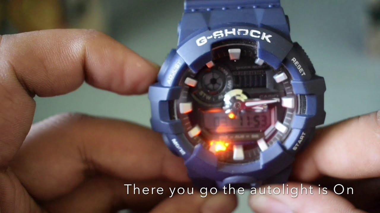100% authentic fbe66 8ddb0 How to turn on Autolight on G-Shock GA-700 Module 5522