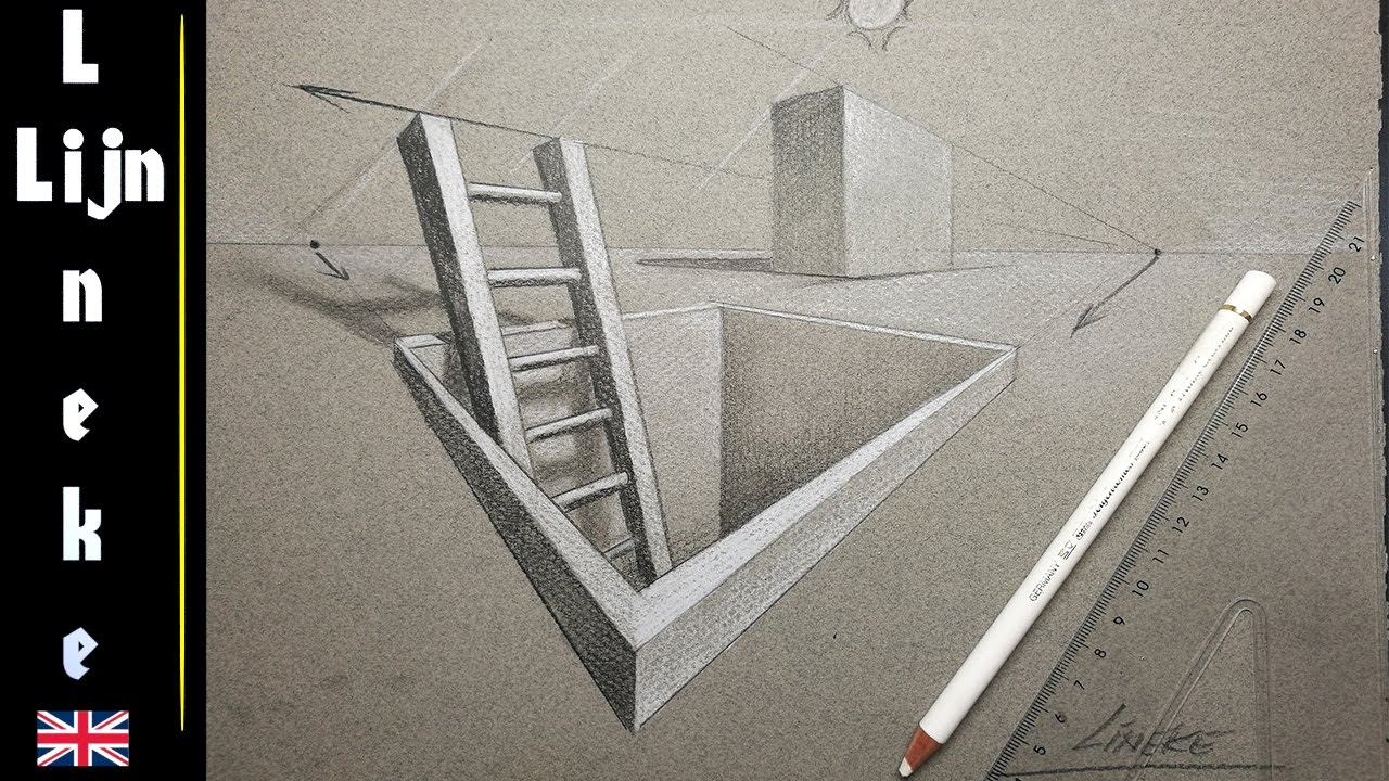 two point perspective drawing easy tutorial for beginners youtube
