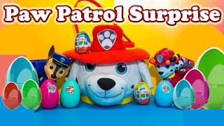 PAW PATROL Nickelodeon Paw Patrol Surprise Eggs & Basket & Miles Tomorrowland a Paw Patrol Video