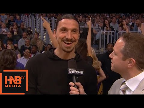 Zlatan Ibrahimovic in the building / Lakers vs Timberwolves