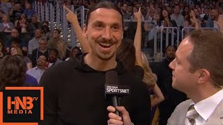 Zlatan Ibrahimovic in the building / Lakers vs Timberwolves