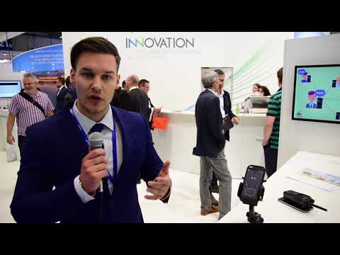 Marvin Gradtke explains PTTconnect at CCW 2018 in Berlin