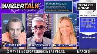 Daily Free Sports Picks | NBA Betting Tips and March Madness Prep on WagerTalk Today | March 3