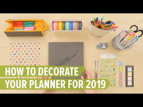 How To Decorate Your Planner For 2019: 10 Must-Have Planner Supplies