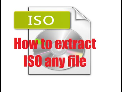How to extract ISO file (Using WinRar)