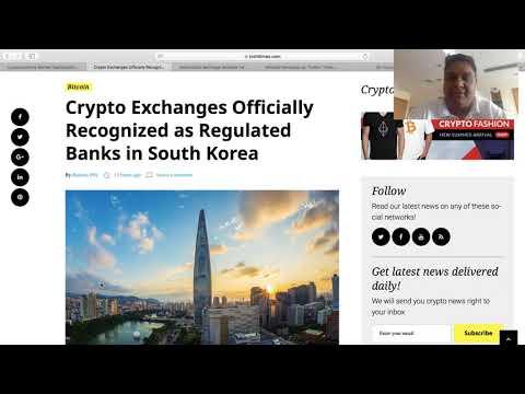 South Korea recognizes Crypto Exchanges as Banks
