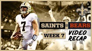 Saints vs Bears On-Field Video Recap from Week 7 | New Orleans Saints Football