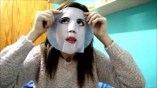Cosmética coreana - Elizavecca BIO CLING Whitening Aqua Mask testing