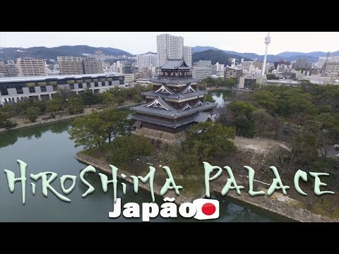 ⛩ Hiroshima Palace  Drone footage   Felipe, o pequeno viajante