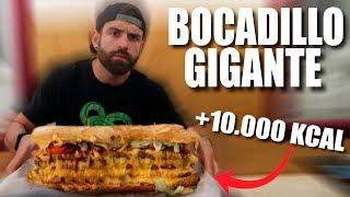 BOCADILLO GIGANTE 3,5 KG (+10.000 KCAL) | EL RETO MÁS DIFÍCIL AL QUE JAMÁS ME HE ENFRENTADO