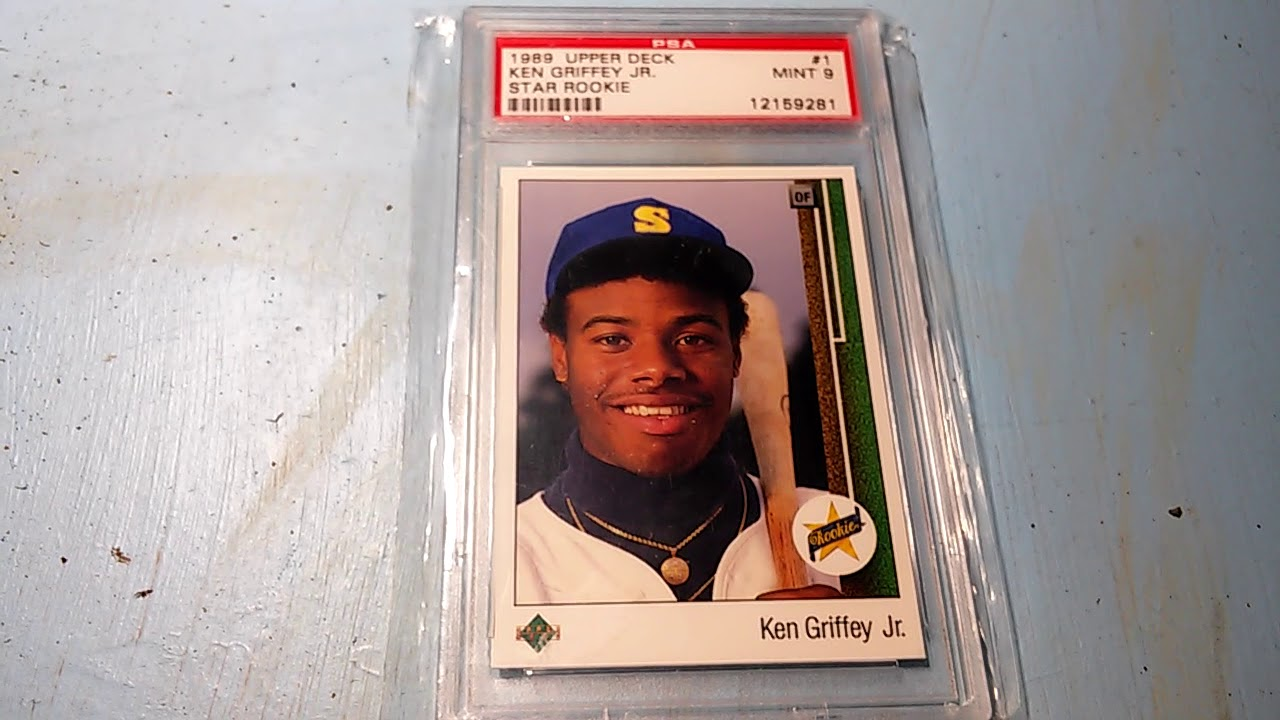 Ken Griffey Jr 1989 Upper Deck 1 Rookie Card