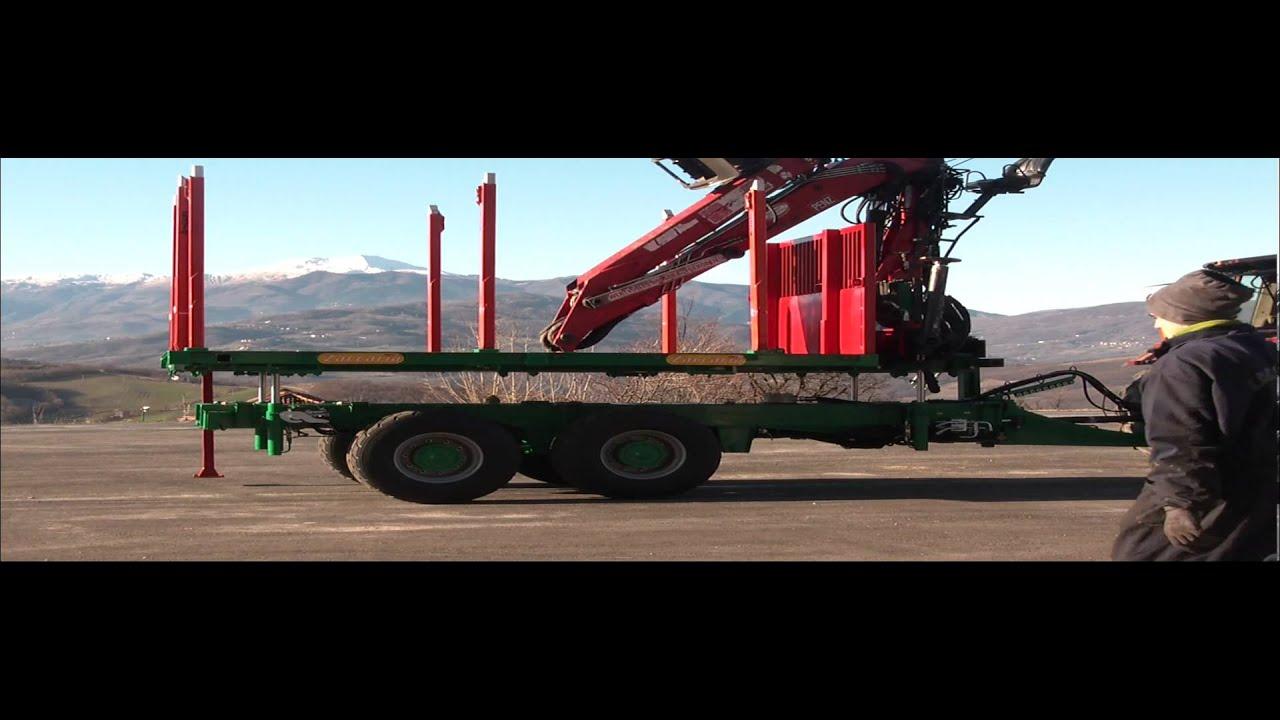 rimorchio forestale zaccaria 14 ton con pianale