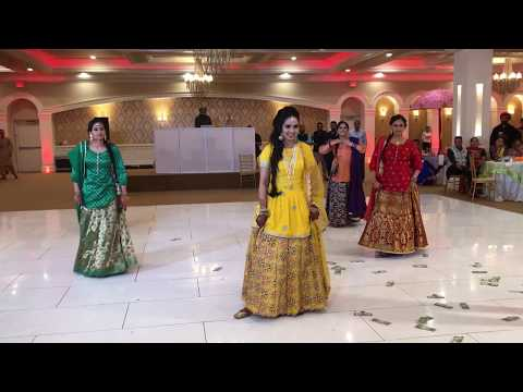 Dance performance at a punjabi wedding