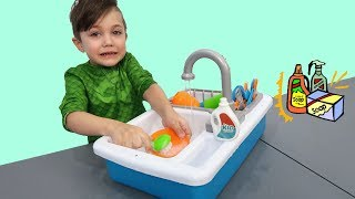 Zack Pretend Play Clean Up with Cleaning Toys - Nursery Rhymes Songs for Children