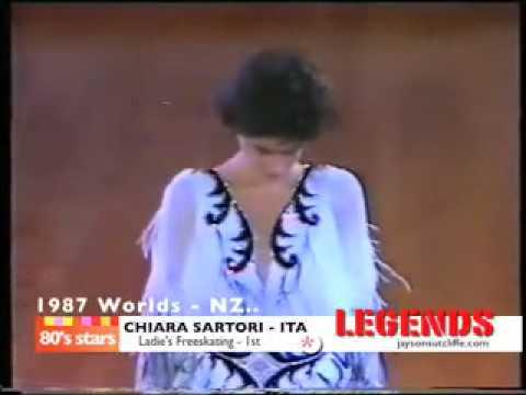 Chiara Sartori 1987 World roller skating championships NZ.