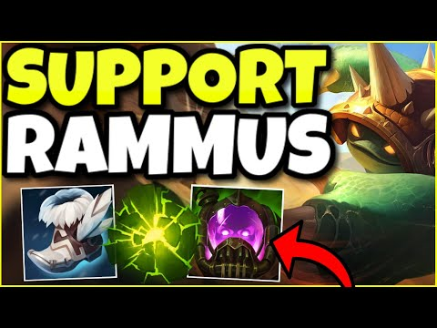THE FASTEST ENGAGES EVER! THIS NEW BUILD FOR RAMMUS SUPPORT HAS ZERO COUNTERPLAY – League of Legends