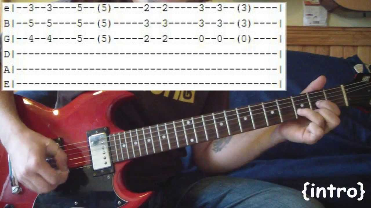 Island In The Sun by Weezer - Full Guitar Lesson & Tabs w ...