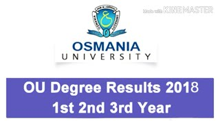 OU Degree 1st, 2nd, 3rd Year exam Results 2018 @ osmania.ac.in