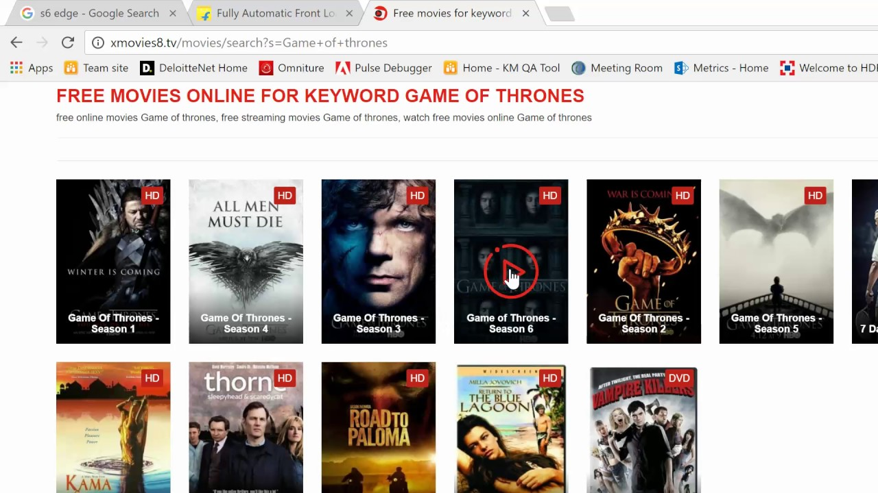 Watch Game Of Thrones Online Season 1 7 Free Download Free Youtube