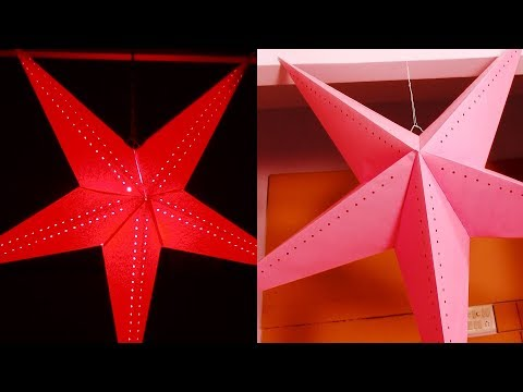 How to make paper stars easy | Christmas Star Making Step by Step
