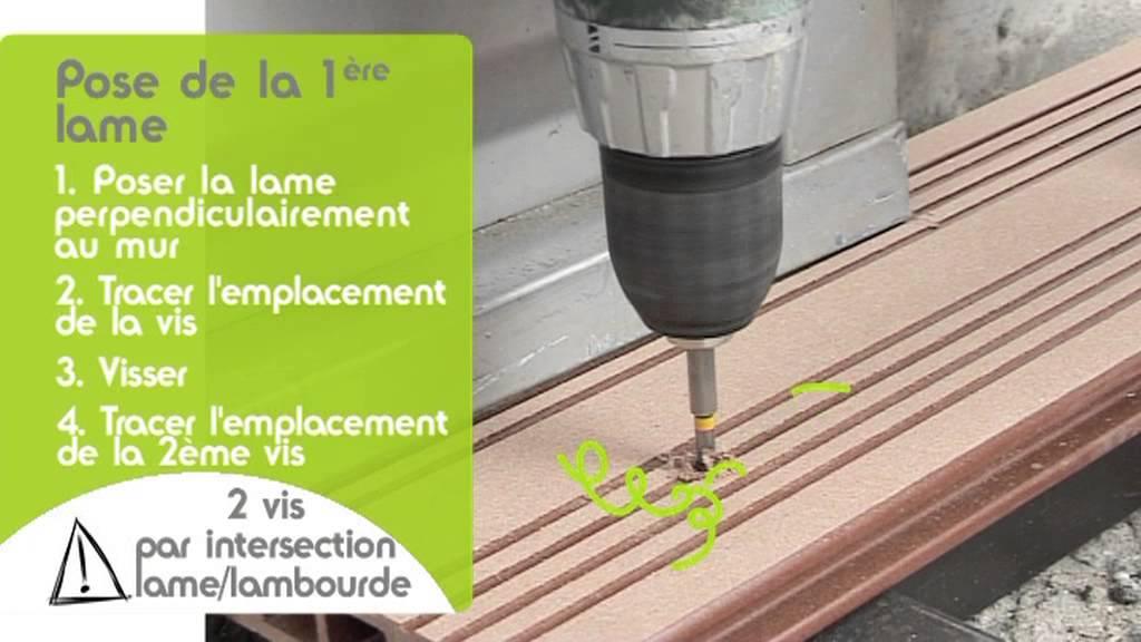 Poser une terrasse fixation par vis ocewood terrasse for Pose de lambourde pour terrasse
