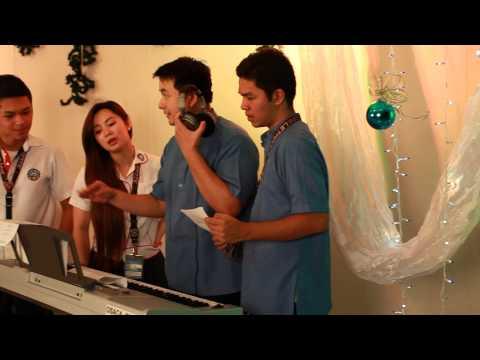 Makabagong Pasko (Recording Sessions) Letran Bataan Christmas Song 2012