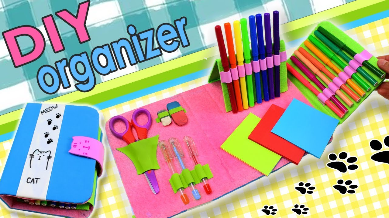 graphic about Diy Planner Organizer referred to as Do it yourself ORGANIZER PLANNER FOLDED PENCIL Circumstance Information Back again in the direction of University Concept