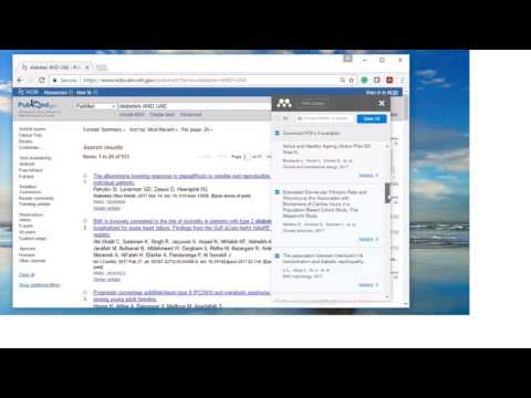4  Mendeley Demo for importing reference from PubMed and other online databases