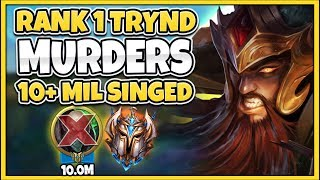 #1 TRYNDAMERE WORLD VS. 10MIL+ MASTERY SINGED MAIN (TOMMY309) - League of Legends