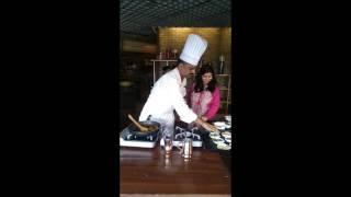 Chef Sathiya Cooks Lobster Chettinad At Setz, Emporio, New Delhi