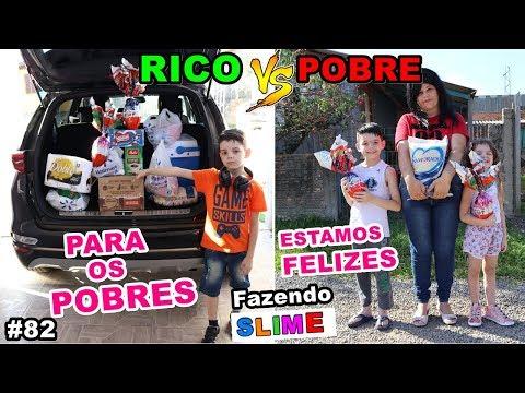 RICO VS POBRE FAZENDO AMOEBA  / SLIME #82