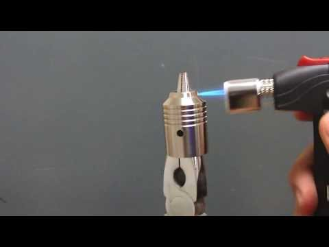 DIY:Torch Your Stainless Steel Atomizer Cap Bronze or Blue Color