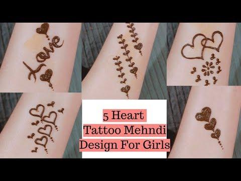 wrist tattoo mehndi design
