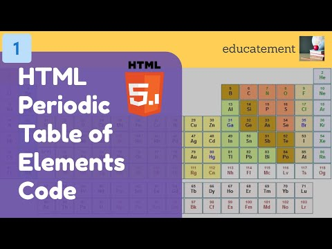 HTML Periodic Table Of Elements Code | Part 1 - Basic Structure | Educatement