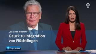 Tagesschau: Zentraler Festakt zum Tag der Heimat des BdV mit Bundespräsident Joachim Gauck 2016