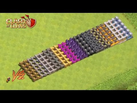 MAX LEVEL WALL BREAKERS VS ALL LEVEL WALLS | CLASH OF CLANS |
