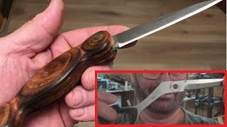 Broken Scissors to Super Cool Knifes! (Extreme Upcycling)