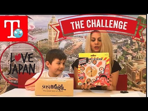 Gymmy sushi challenge/Part1 🍣🍣unboxing Ιαπωνικα γλυκα/ the sweet taste of Japan/   για παιδια
