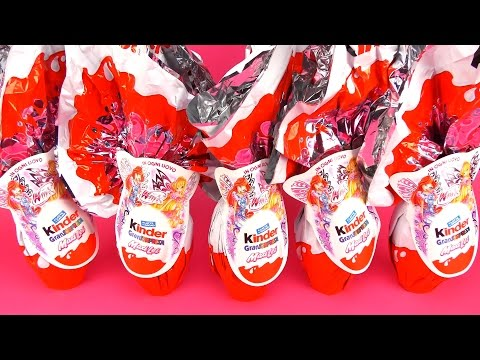 5 Giant WinX Club MAXI Kinder Surprise Eggs