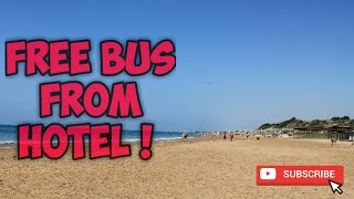 Free Bus From Side Crown Serenity Hotel to Side Beach