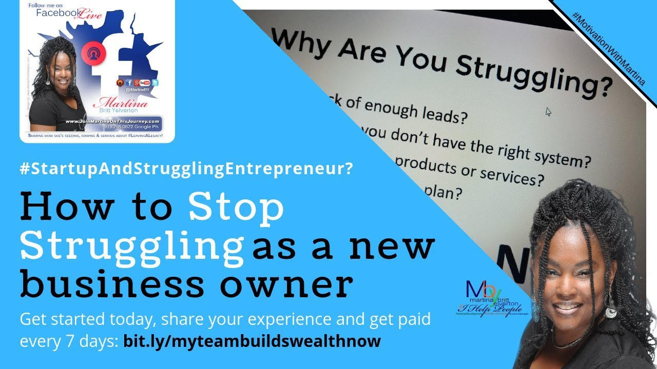 How to Stop Struggling as a #StartupAndStrugglingEntrepreneurs