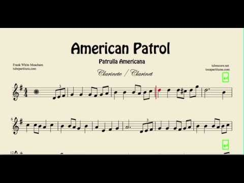 American Patrol Sheet Music for Clarinet Patrulla