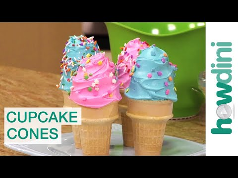 Birthday Cake Ideas: How to make cupcakes in ice cream cones