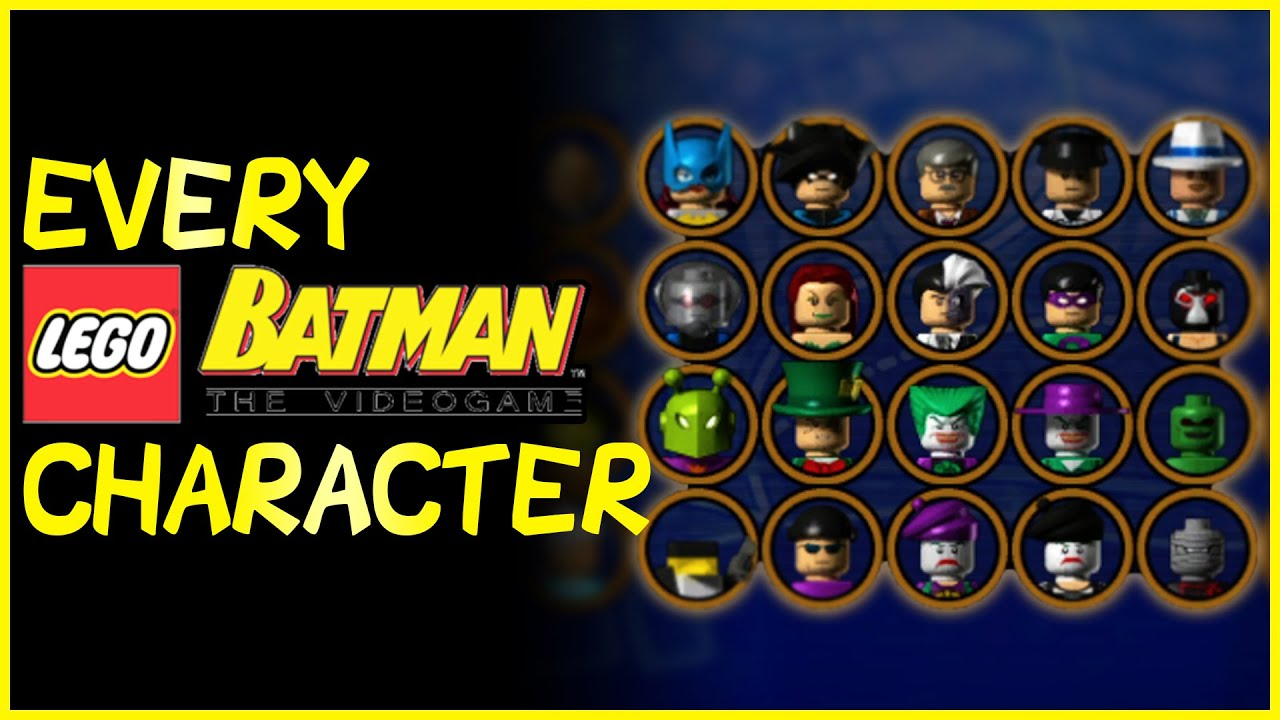 EVERY CHARACTER in LEGO Batman: The Videogame (2008)