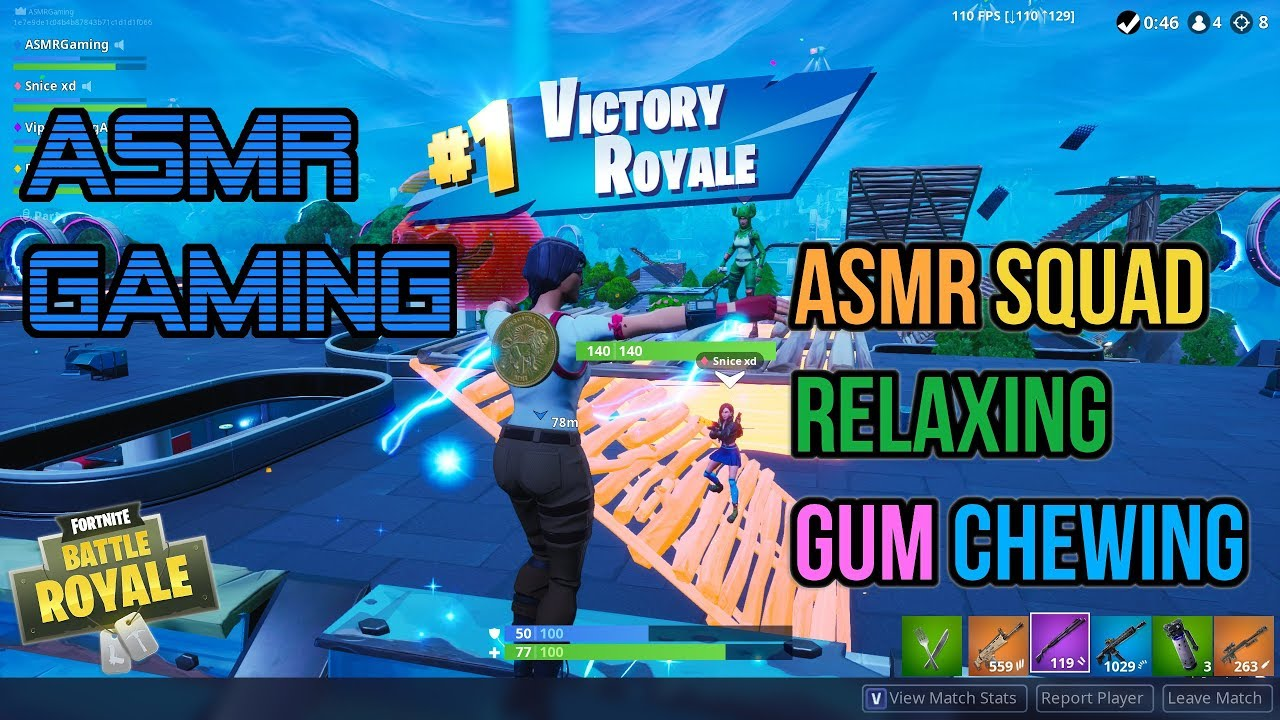 ASMR Gaming | Fortnite ASMRtist Squad Relaxing Gum Chewing