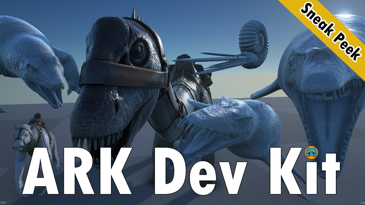 ARK Survival Evolved Dev Kit Sneak Peek | Colored Diplodocus, Ammonite, &  More!!!