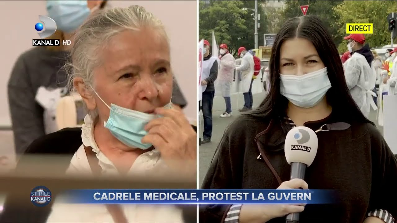 Stirile Kanal D (03.11.2020) - Cadrele medicale, protest la GUVERN! Editie de pranz