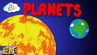 Planets of the solar system for kids and toddlers learning video (english)