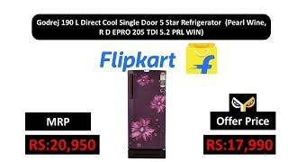 Godrej 190 L Direct Cool Single Door 5 Star Refrigerator (Pearl Wine, R D EPRO 205 TDI 5.2 PRL WIN)