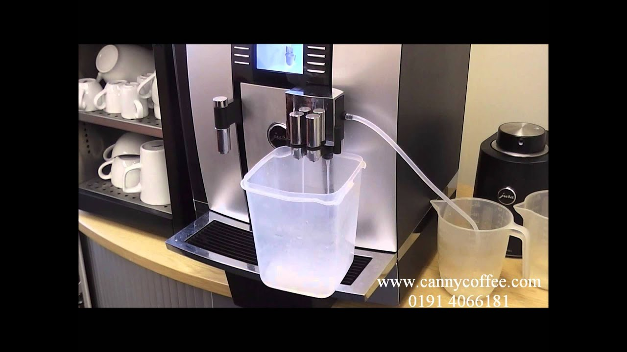 how to clean the milk system on your jura giga x7 bean to cup coffee machine youtube. Black Bedroom Furniture Sets. Home Design Ideas